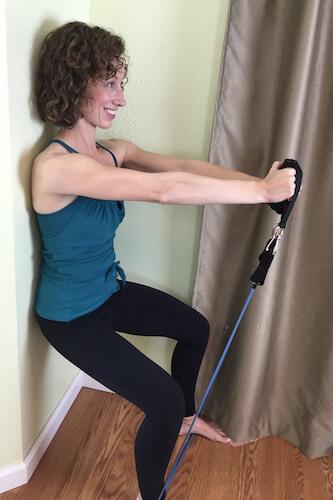 Wall Squat and Lift